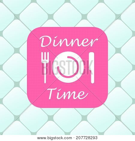Top view of dinner time elements. Vector illustration