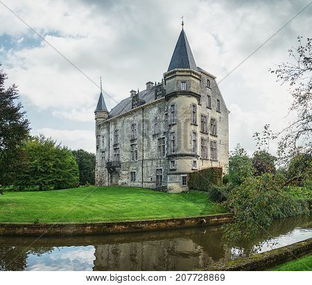Castle Schaloen in Valkenburg  in The Netherlands.