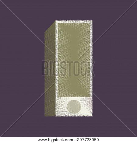 flat shading style icon Subwoofer multimedia stereo