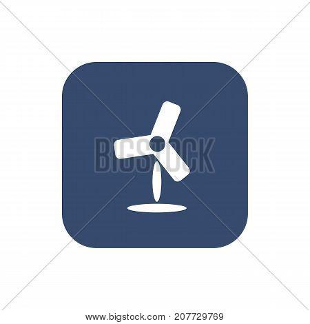 Fan icon. Flat simple design. Vector illustration