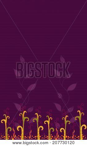 Colorful floral simple background design. Vector illustration.