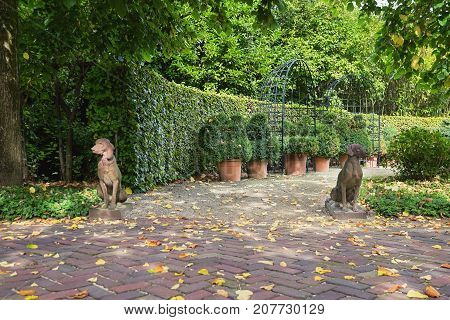 Apeltern Netherlands September 29 2017: Appeltern Gardens in the Netherlands is an opportunity to meet fresh and creative ideas in the field of garden design.
