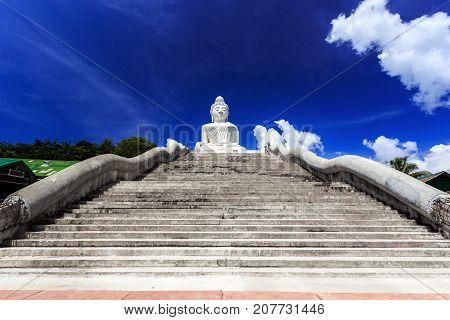The Main Stairs Leading To Big Buddha Big Buddh.a Phuket, Thailand