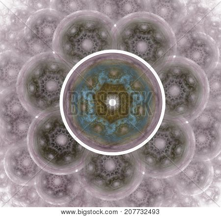 The atomic nucleus. Abstract representation. Elementary Particles series. Interplay of abstract fractal forms on the subject of nuclear physics. The collision of elementary particles. Interaction of physical particles. Quantum Vacuum Fluctuations.