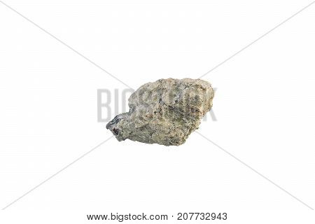 Olivine Stone From Italy Isolated On White