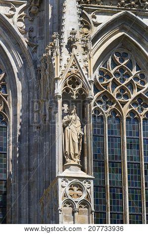 23 AUGUST 2017, VIENNA, AUSTRIA:Elements of architecture are the church of St. Stephen in Vienna in Austria.