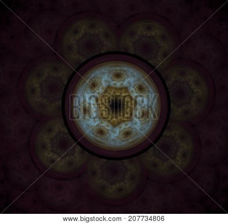 The atomic nucleus. Abstract representation. Elementary Particles series. Interplay of abstract fractal forms on the subject of nuclear physics. The collision of elementary particles. Interaction of physical particles. Quantum Vacuum Fluctuations. Higgs b