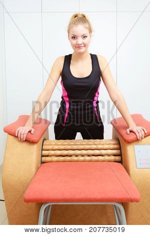 Woman Getting Rid Cellulite On Thighs