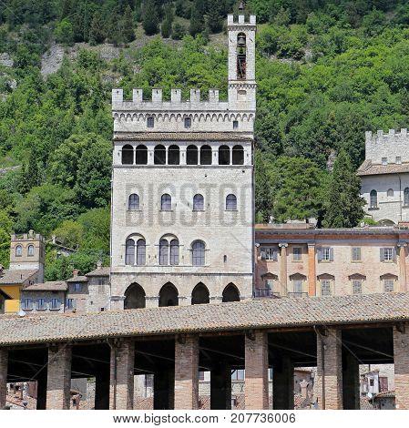 Wonderfull Consuls Palace in Gubbio. Umbria - Italy