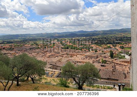 Panoramic view of the city of Gubbio