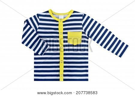 clothes for kids the isolated on a white background striped children's undershirt