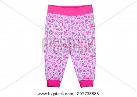 clothes for kids isolated on a white background children's trousers