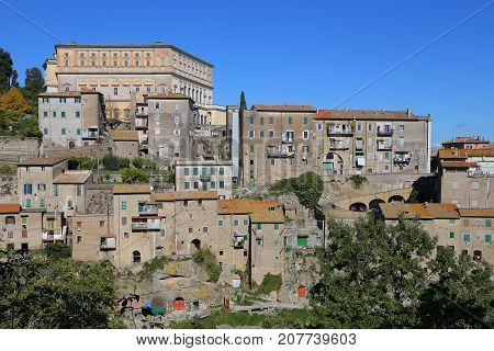 View of small town of Caprarola
