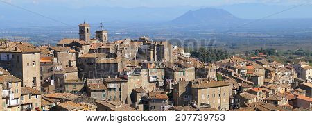 View of small town of Caprarola and his busy architecture