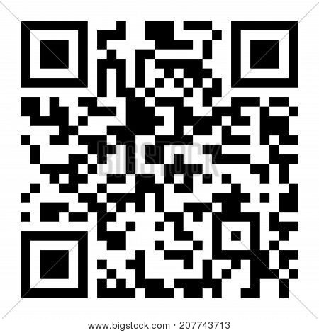 Vector QR code scan. Scanning smartphone technology isolated on white. Qr illustration.