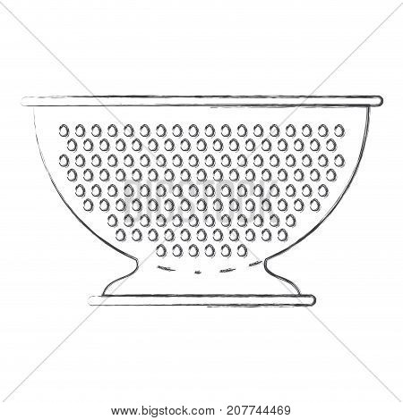 kitchen drainer flat monochrome blurred silhouette vector illustration