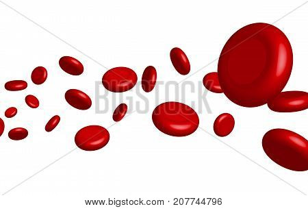 Vector vein blood red cell. Biology medical genetic health. Macro medicine science.