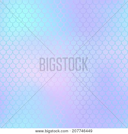 Mermaid skin or fish scale pattern. Pale pink violet gradient mesh. Abstract blurry vector background. Fantastic fish skin seamless pattern. Romantic mermaid scale background. Pastel colors fish scale