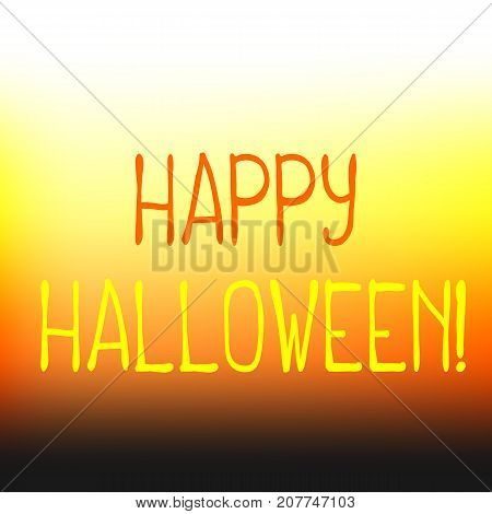 Happy Halloween vector background with vibrant color mesh. Happy Halloween abstract background with lettering. Sweet corn banner template. Candy corn colored wrapping paper. Halloween greeting card