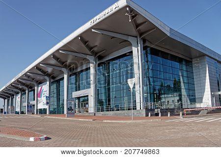 Kharkiv Ukraine - September 22 2017: Terminal A at the International airport