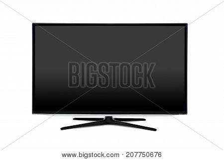 Television, Tv Screen Mockup Front View Isolated