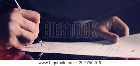Attorney Working In Office Web Banner Background