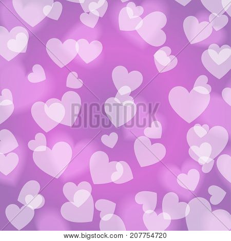 Purple violet Bokeh Heart pattern vector graphic design