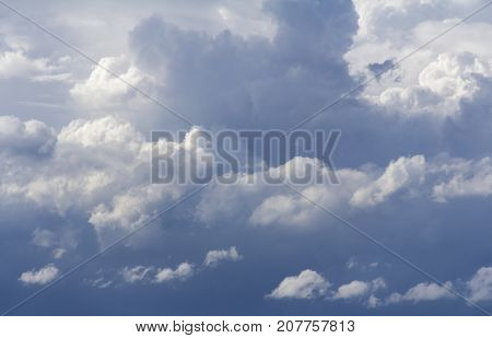 full frame background showing stormy clouds in the sky