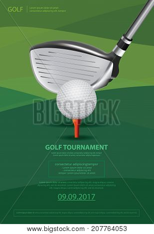 Poster Golf Tournament Template Design  Vector Illustration