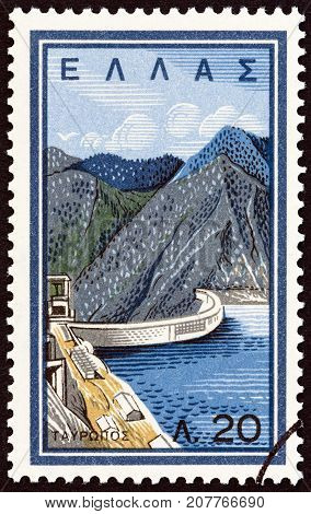GREECE - CIRCA 1962: A stamp printed in Greece from the