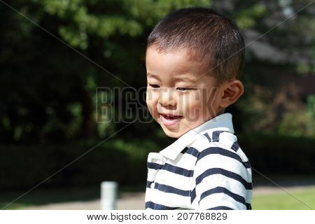 cute smiling Japanese boy (3 years old)
