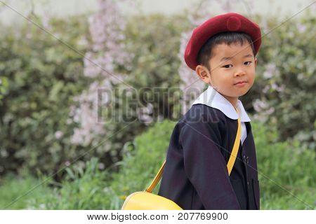 Japanese Boy In Kindergarten Uniform (3 Years Old)