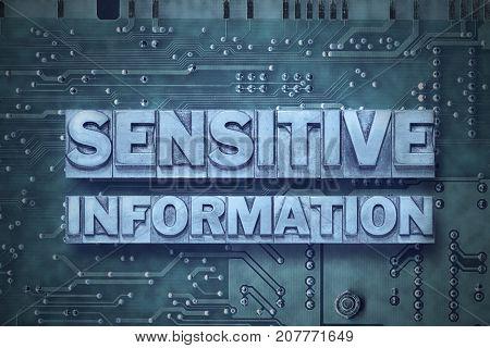 Sensitive Information Pc Board