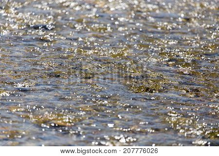 background of whitewater on the river . Photo of abstract background