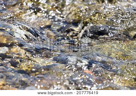 Stones in water Nature . Photo of abstract background