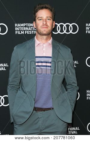 Actor Armie Hammer attends the Sony Pictures Classics 'Call Me By Your Name'  Screening at Guild Hall during the 25th Hamptons International Film Festival on October 6, 2017 in East Hampton, New York.