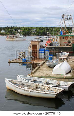 Fischerboote im Hafen, Nb Dipper