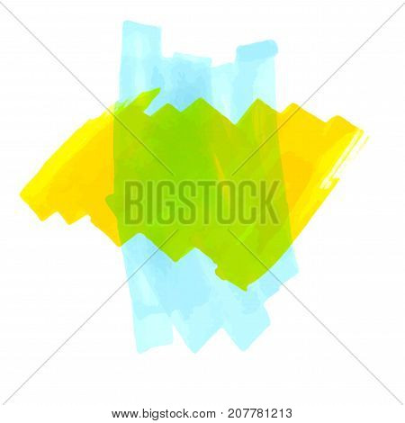 Abstract hand drawn blue and yellow duotone marker background. Vector illustration. Grunge texture for cards and flyers design.