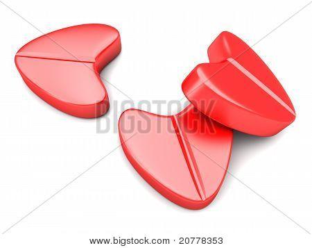 Love Pills. 3D rendered Illustration. isolated on white. poster