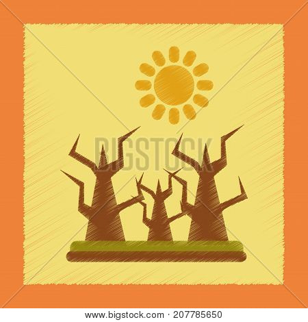 flat shading style icon nature drought disaster