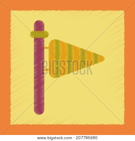 flat shading style icon nature weather vane
