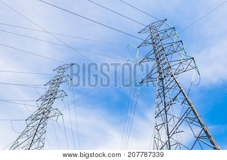 Metal Electrical Power Transmission Tower with Glass Insulator