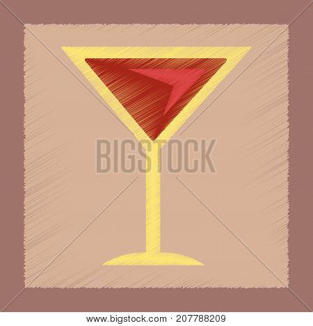 flat shading style icon poker martini glass
