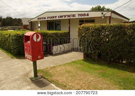 Snug Tasmania Australia 23 December 2015: Australian country post office