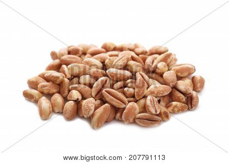 Spelt heap isolated on a white background