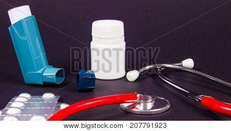Asthma Or Allergies Inhaler.