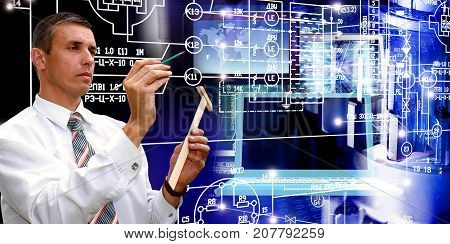 Designing engineering. manufacturing industrial technology.software industrial sesign