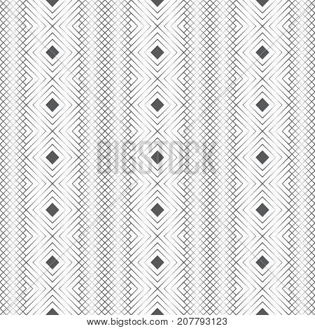 Seamless pattern. Abstract geometric background. Simple elegant texture with thin lines. Regularly repeating geometrical grid with rhombuses. Vector element of graphical design