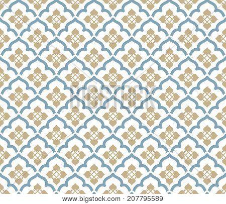 Vector seamless pattern. Luxury stylish texture. Regularly repeating retro ornament. Pattern can be used as a background wallpaper wrapper page fill element of ornate decoration