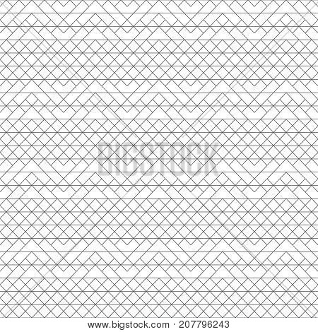 Vector seamless pattern. Modern stylish texture with intersecting thin lines which form regularly repeating tiled linear grid with rhombuses corner shapes. Abstract geometric background